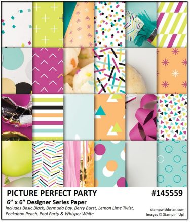 Picture Perfect Party Designer Series Paper, Stampin' Up!, Brian King