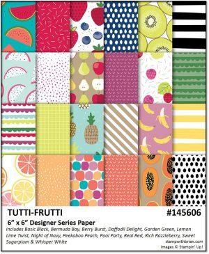 Tutti-frutti Designer Series Paper, Stampin' Up!, Brian King