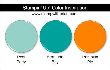 Stampin' Up! Color Inspiration: Pool Party, Bermuda Bay, Pumpkin Pie
