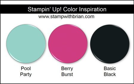 Stampin' Up! Color Inspiration: Pool Party, Berry Burst, Basic Black