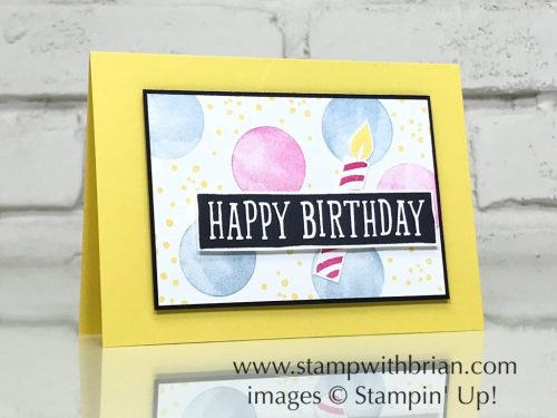 Eclectic Expressions, Birthday Wit, Picture Perfect Birthday, Stampin' Up!, Brian King, birthday card
