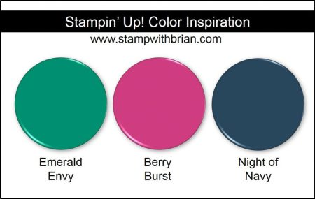 Stampin' Up! Color Inspiration: Emerald Envy, Berry Burst, Night of Navy