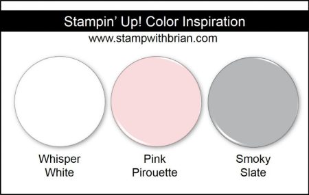 Stampin' Up! Color Inspiration: Whisper White, Pink Pirouette, Smoky Slate