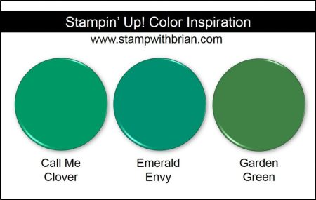 Call Me Clover Comparison, Stampin' Up! 2018-2020 In Color: Emerald Envy, Garden Green