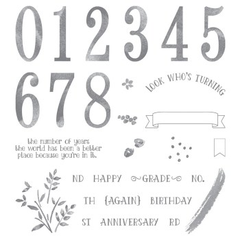 Number of Years, Stampin' Up! 140653