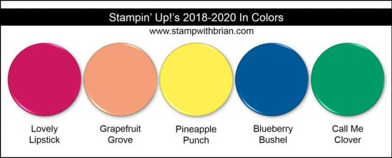Stampin' Up!'s 2018-2020 In Colors