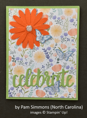 by Pam Simmons, Stampin' Up!, Spring One-for-One Card Swap