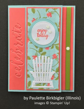 by Paulette Birkbigler, Stampin' Up!, Spring One-for-One Card Swap