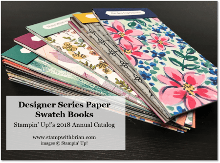 Designer Series Paper Swatch Books, Stampin' Up!, Brian King, www.stampwithbrian.com