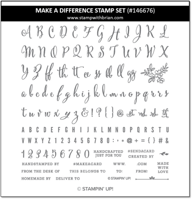 Make a Difference, Stampin' Up!, 146676