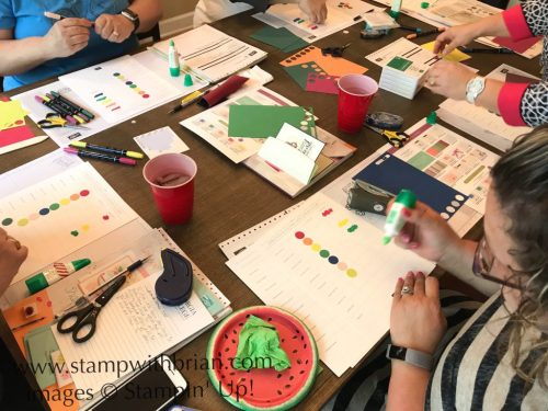 Putting together color charts, Stampin' Up!