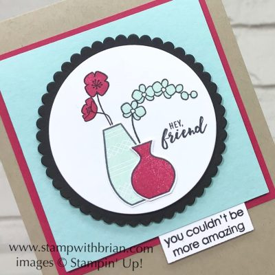 Varied Vases Bundle, Itty Bitty Greetings, Amazing Congratulations, Stampin' Up!, Brian King