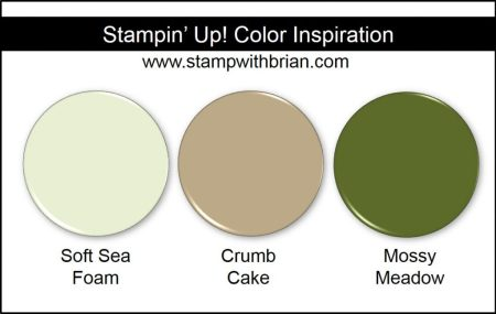 Stampin' Up! Color Inspiration: Soft Sea Foam, Crumb Cake, Mossy Meadow