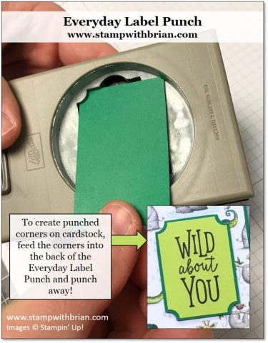 Everyday Label Punch, Stampin' Up!, Brian King