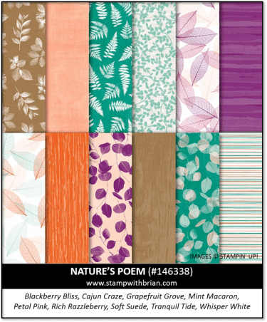 Nature's Poem Designer Series Paper, Stampin' Up!, 146338