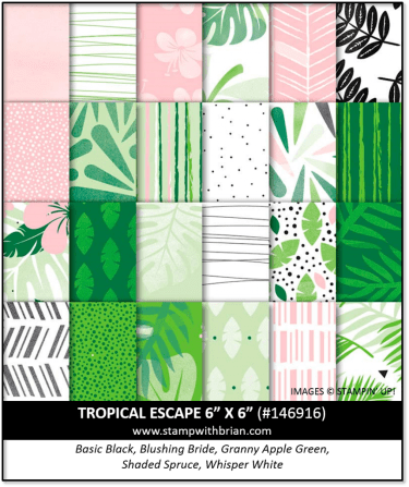 Tropical Escape Designer Series Paper, Stampin' Up! 146916