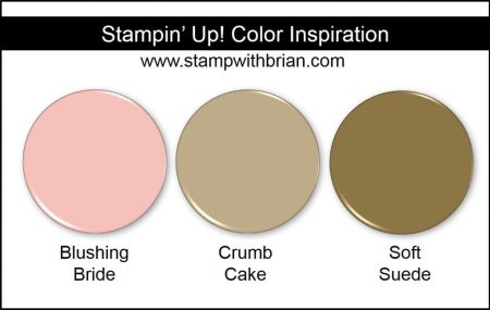 Stampin' Up! Color Inspiration: Blushing Bride, Crumb Cake, Soft Suede