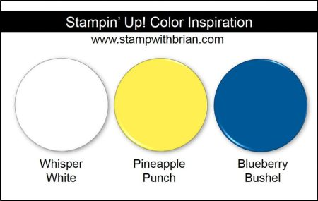 Stampin' Up! Color Inspiration: Whisper White, Pineapple Punch, Blueberry Bushel