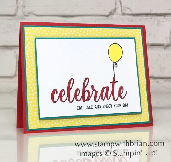 Calligraphy Essentials, Blow Out the Candles, Stampin' Up!, Brian King, birthday card