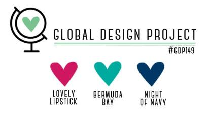 Stampin' Up! Color Inspiration: Lovely Lipstick, Bermuda Bay, Night of Navy