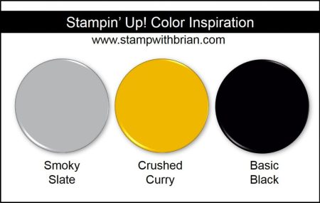 Stampin' Up! Color Inspiration: Smoky Slate, Crushed Curry, Basic Black