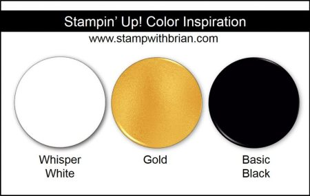 Stampin' Up! Color Inspiration: Whisper White, Gold, Basic Black