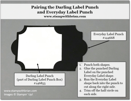 Darling Label and Everyday Label punch, Stampin' Up!, Brian King