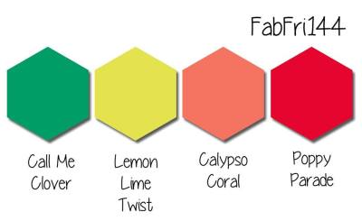 Stampin' Up! Color Inspiration: Call Me Clover, Lemon Lime Twist, Calypso Coral, Poppy Parade