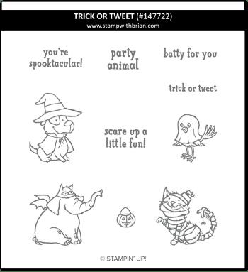 Trick or Tweet, Stampin' Up! 147722