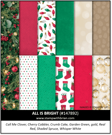 All is Bright Designer Series Paper, Stampin' Up! 147892