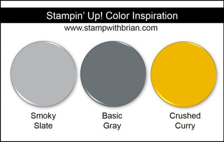 Stampin' Up! Color Inspiration: Smoky Slate, Basic Gray, Crushed Curry