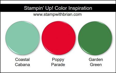 Stampin' Up! Color Inspiration: Coastal Cabana, Poppy Parade, Garden Green