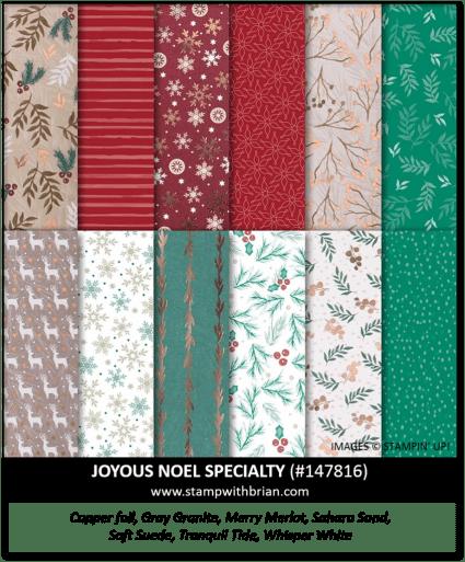 Joyous Noel Specialty Designer Series Paper, Stampin' Up! 147816