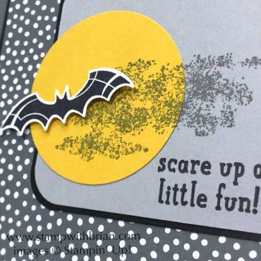 Spooky Sweets, Trick or Tweet, Stampin' Up!, Brian King, Halloween bat card