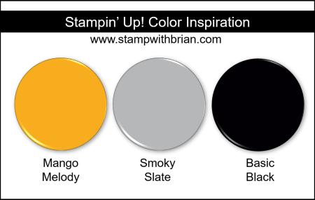 Stampin' Up! Color Inspriation - Mango Melody, Smoky Slate, Basic Black