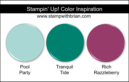 Stampin' Up! Color Inspiration - Pool Party, Tranquil Tide, Rich Razzleberry