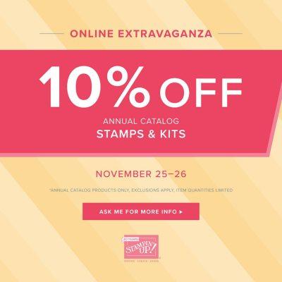 Stampin' Up!'s Online Extravaganza - Stamps & Kits - November 25-26, 2018