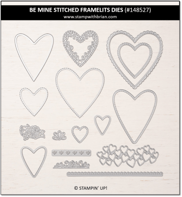 Be MIne Stitched Framelits Dies, Stampin' Up!, 148527