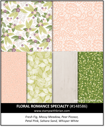Floral Romance Specialty Designer Series Paper, Stampin' Up! 148586
