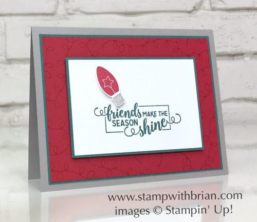 Making Christmas Bright, Stampin' Up!, Brian King, simple Christmas card