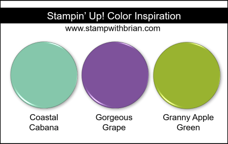 Stampin' Up! Color Inspiration - Coastal Cabana, Gorgeous Grape, Granny Apple Green