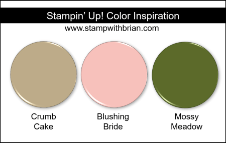 Stampin' Up! Color Inspiration - Crumb Cake, Blushing Bride, Mossy Meadow