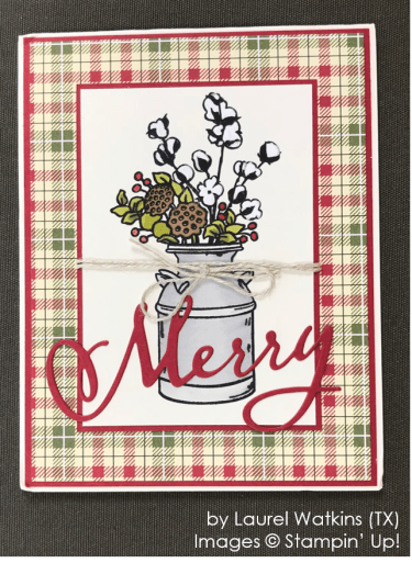 by Laurel Watkins, Stampin' Up! One-by-One Holiday Card Swap