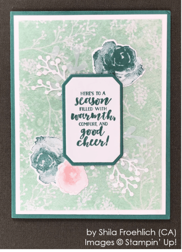 by Shila Froehlich, Stampin' Up! One-by-One Holiday Card Swap