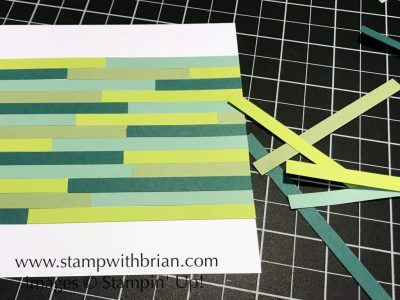 Creating a Background Pattern on a Card with Strips of Colored Cardstock