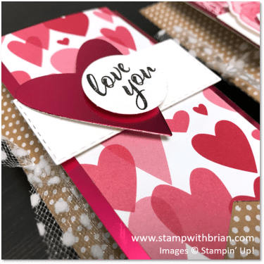 Forever Lovely Pillow Boxes, Stampin' Up!, Brian King, Valentine's Day Gifts