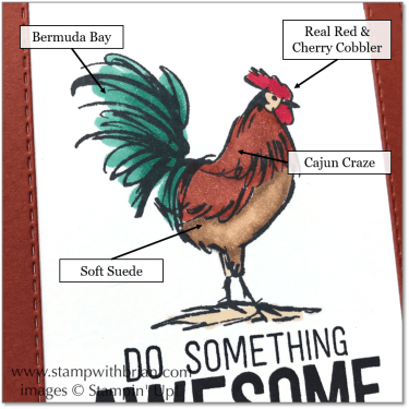 Rooster Colors with Stampin' Blends, Stampin' Up!, Brian King