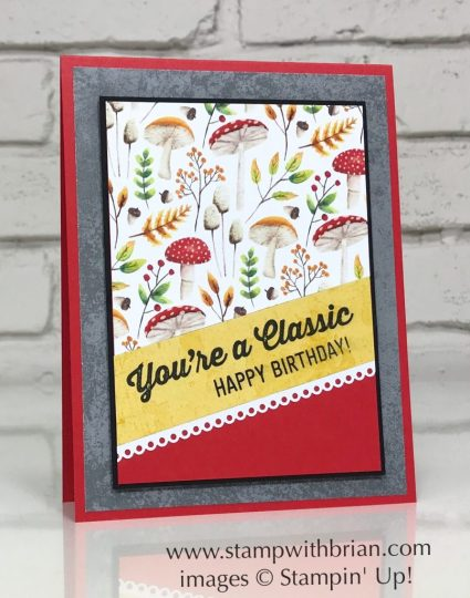 Geared Up Garage, Painted Seasons Designer Series Paper, Stampin' Up!, Brian King, birthday card