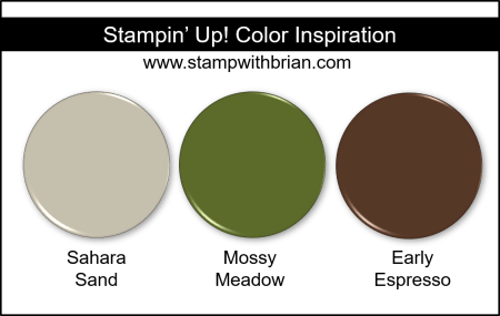 Stampin' Up! Color Inspiration - Sahara Sand, Mossy Meadow, Early Espresso