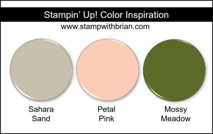Stampin' Up! Color Inspiration - Sahara Sand, Petal Pink, Mossy Meadow